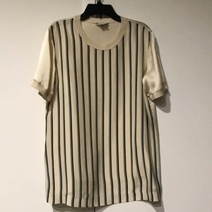 Vince Stripe Shine Tee Shirt